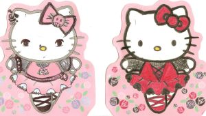 hello kitty gone punk by GreenEyezz