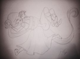 Tangled Sketch by jaZzLIn3egurll
