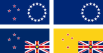 Alternative flags of Cook Islands and Niue by hosmich