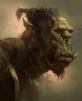 Orc head sketch by MikeAzevedo