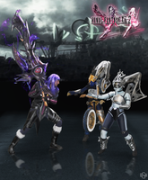 FFXIII-2: Caius vs Shiva Sisters Cosplay by Nobodyyyyy