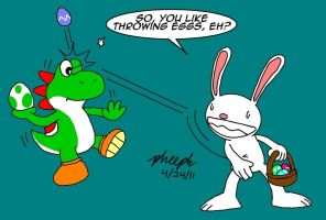 Easter Egg Fight by pheeph