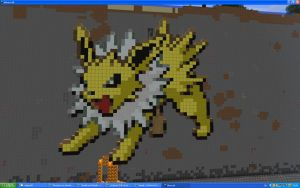 Jolteon On Minecraft by Miccopicco