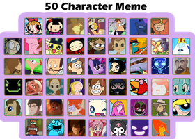 50 characters meme (new characters!) by capcappucca222
