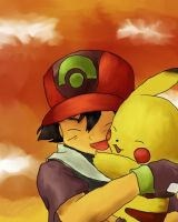 Ash and Pikachu by ArchXAngel20
