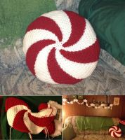 Peppermint Pillow by gabiemiller