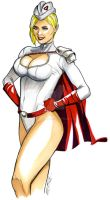 Alternate Power Girl by martheus