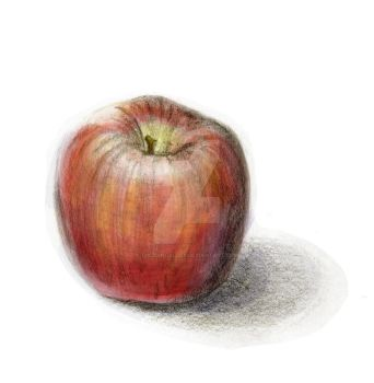 Apple Sketch 01 color by theblindalley