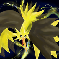 Bird of Thunder Zapdos by GeneralGibby