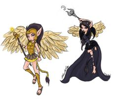 Guardians of the Sun and Moon by PhantasmicDream