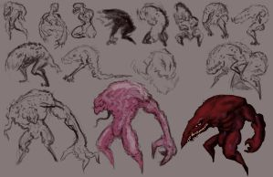 The Red Beast concept sketches by Nuke-Em-Nic