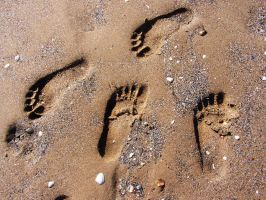 Foot prints by spiderkazz