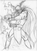 thor sketch by scarecrowhassan