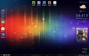 Android ICS Ice Cream Sandwich Theme Windows 7 by bluetekk