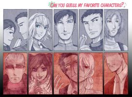 Favorite Characters MEME by miumiuchuu