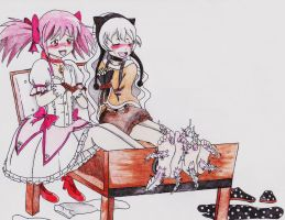 Commission- Madoka magical torture by princeofhalcyon