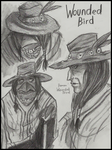 Wounded Bird sketches by PurpleRAGE9205