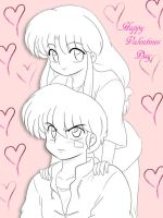 Ranma and Akane - Happy Valentine's Day by MomopyChan