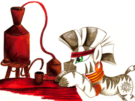 Comission - MLP. Zecora's Distillery by jamescorck