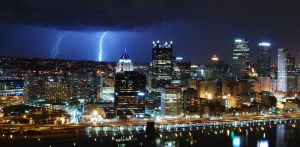 Lightning - Downtown Pittsburgh - 031512 - 3 by GTX-Media