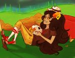 aradia and a skull by Narkling