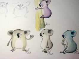 koala sketches by IronAries