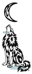 Lonely Wolf And Moon Tattoo by WildSpiritWolf