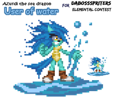 User of water: Azurdi by supersilver27