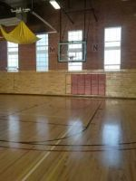 Basketball court and goal stock 2 by dhbraley