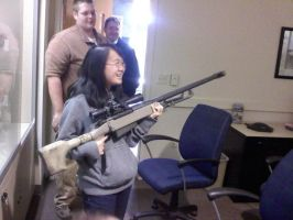 Me holdin a Barret 50. 2 by Gundamluver