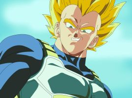 Dragon Ball Z Super Saiyan Vegeta by infernaltai91