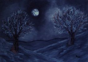 Moonscape (charcoal) by AlexandraDart