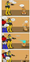 Sunstreaker not good with Kids by batchix