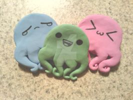 Baby emote squids pinback buttons by KitschyCustomCrafts