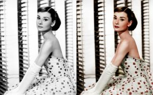 Audrey Hepburn, Colorized [n.d.] by RenderEffect-Dan