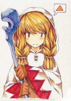 FFT White Mage by kuridoki