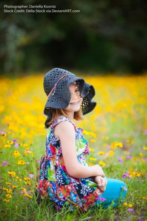 Colorful Child in Hat.2 by Della-Stock