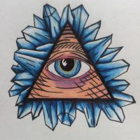 Illuminati Eye w/ Crystal Shards Final. by C-Gray