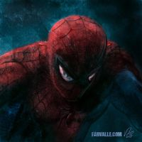 Spider-Man close up by Fabvalle