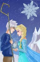 Jack and Elsa - Snowflake by TerraForever