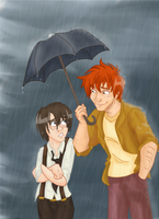 HP Fred x Nox Prompt 1: Rain by Weasley-Detectives