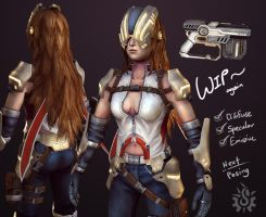 Alicia Winters - 3D Wip2 by davislim