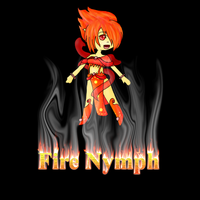 Chibi Fire Nymph Adopt (set Price) by ShyMoonAdopts