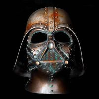 STeampunk Darth Vader Rusted Battle damaged helmet by artfordable