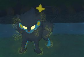 Luxray. Charge by Kyobelachyo