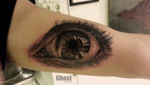 eye realistic tattoo by mil5