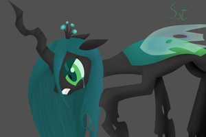 Defeated Queen Chrysalis by SilverStBrony