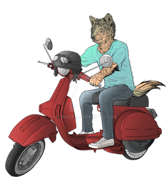 WOLF RIDER by azrulFTW
