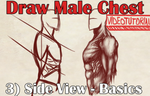 VideoTutorial on Drawing the Male Torso Side View by Dex91