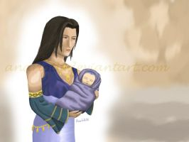 FF X - Baby Seymour and Mom by Anarloth